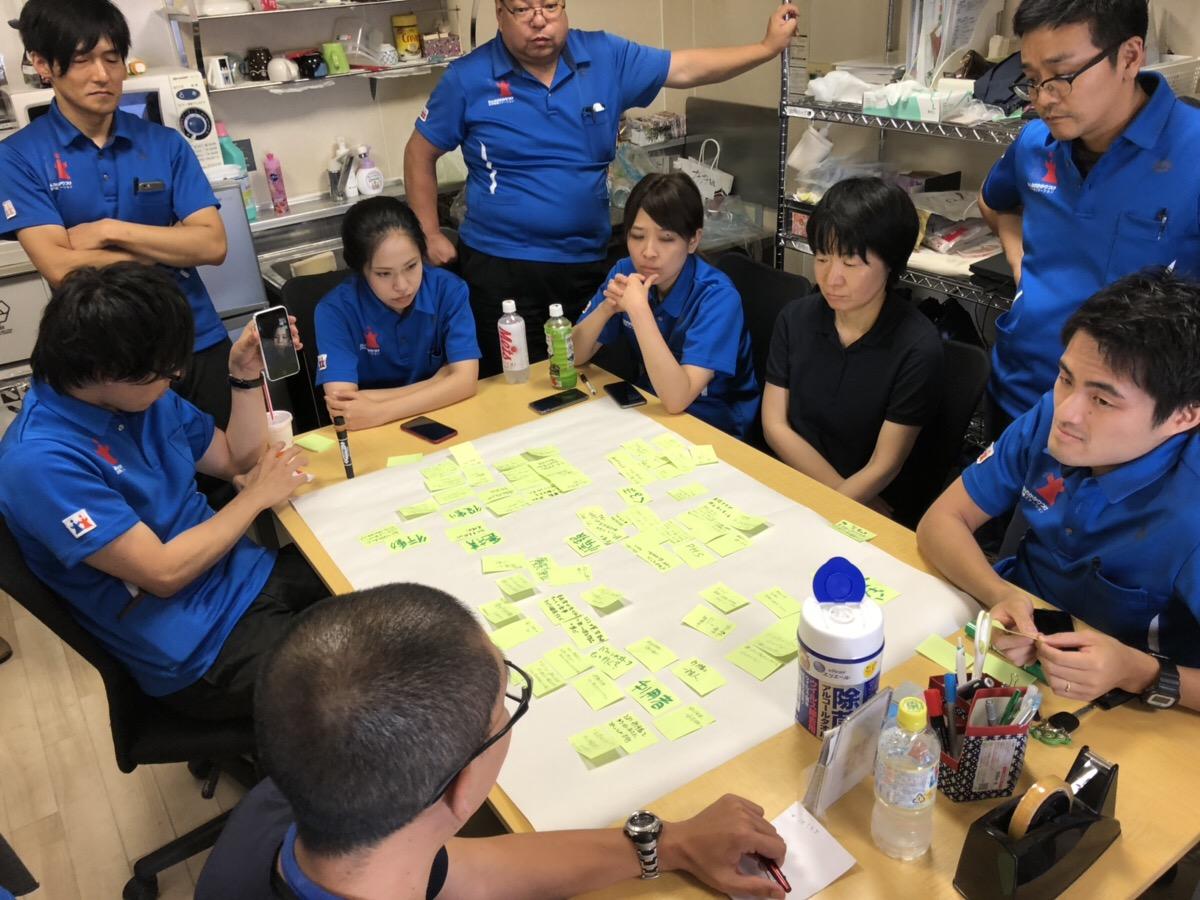 【災害ステーション、訪問看護での災害訓練】