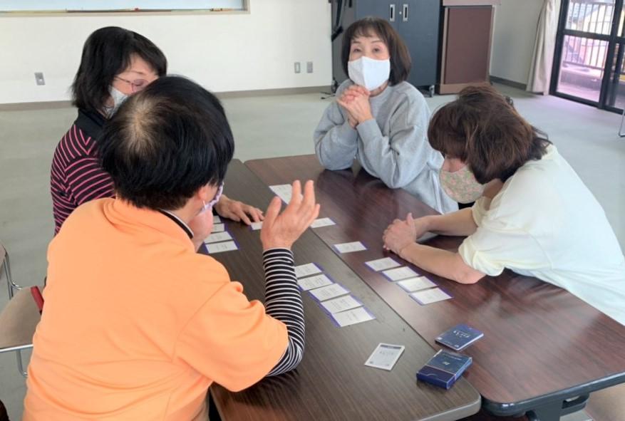 豊明市の認知症カフェでのもしバナカードゲーム(みんなのかかりつけ)
